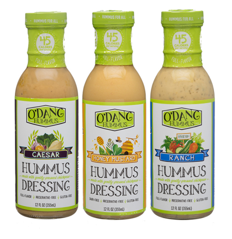 O'DANG Hummus dressings Ranch, Caesar and Honey Mustard now available at Roundy's. (Photo: Business  ...