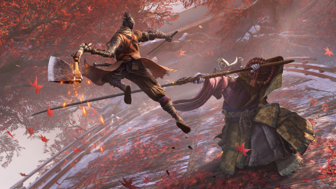 Sekiro: Shadows Die Twice, launching March 22, 2019, on Xbox One, PlayStation®4, and PC via Steam is a new action-adventure game with RPG elements developed by FromSoftware. Set in the late 1500s Sengoku Japan, players will experience a brutal period of constant life and death conflict as they come face to face with larger than life foes in a dark and twisted world. (Photo: Business Wire)