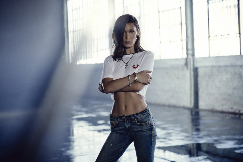 Bella Hadid Headlines True Religion's Latest Campaign (Photo: Business Wire)