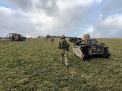 With four vehicles, Milrem Robotics was the most represented UGV manufacturer at the Army Warfightin ...