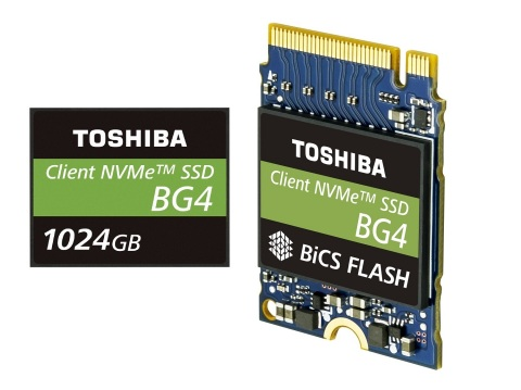 Toshiba Memory Corporation: 1TB Single Package PCIe(R) Gen3 x4L SSDs with 96-Layer 3D Flash Memory ( ...