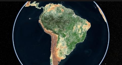 Indigo's satellite-based Crop Health Index in South America (Graphic: Business Wire)