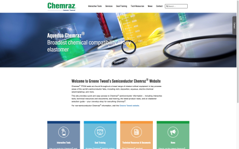 Chemraz Semiconductor Microsite (Graphic: Greene Tweed)