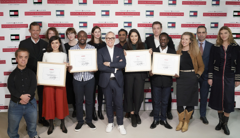 The prestigious jury panel and TOMMY HILFIGER Challenge winners at the Final Event. (Photo: Business ...