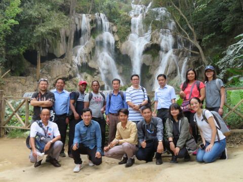 Technical visit to the Kuang Si Waterfall (Photo: Business Wire)