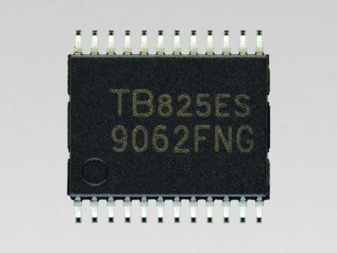 "Toshiba: Sensorless control pre-driver IC ""TB9062FNG"" for automotive BLDC motors. (Photo: Business W ..."