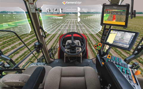 Farmers Edge new In-Cab Tool delivers a seamless digital experience from the office to the cab. (Pho ...