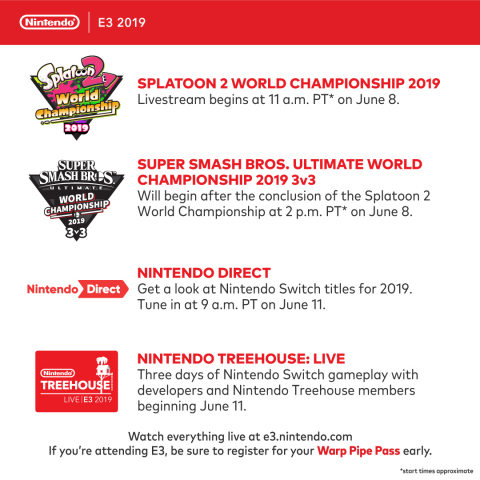 Nintendo has outlined its plans for the E3 2019 video game trade show, which takes place June 11-13 ...