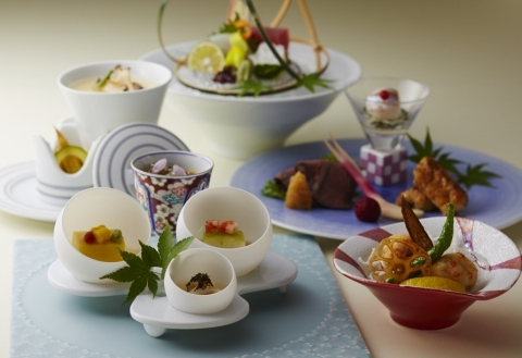 Specially prepared Japanese foods using Arita and Imari tableware served throughout July 2019 to com ...