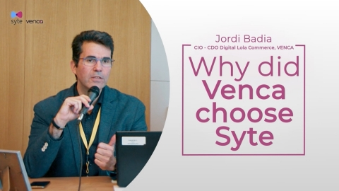 Jordi Badia, CIO & CDO at Venca shares why he chose Syte to power Venca's Visual AI product discovery. (Photo: Business Wire)