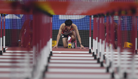 About 40 captivating photographs of athletes competing in the glab sports arena will be displayed at Sports News Photograph Exhibition 2020. (Photo: Business Wire)