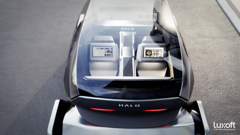 Luxoft HALO, featuring a revolutionary digital, consumer-grade in-vehicle experience. Image courtesy of Luxoft.