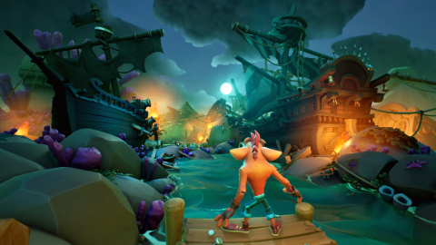 Crash Bandicoot is back and is embarking on his latest adventure. Activision and Toys for Bob have teamed up to create an all-new game that introduces a fresh art style for Crash that maintains the zany spirit of the franchise while also breathing new personality and charm into it. Crash Bandicoot™ 4: It's About Time will be available on October 2, 2020, on PlayStation® 4, PlayStation® 4 Pro, Xbox One and Xbox One X. (Graphic: Business Wire)