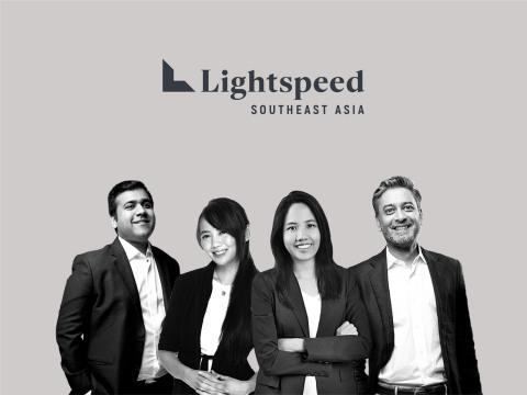Lightspeed Southeast Asia Team (pictured left to right): Akshay Bhushan, Marsha Sugana, Pinn Lawjindakul, and Bejul Somaia.(Graphic: Business Wire)