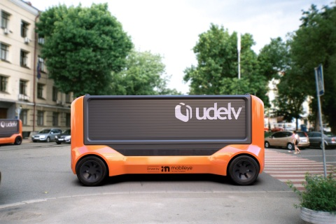 In April 2021, Udelv announced that Mobileye Drive, Mobileye's self-driving system, will drive the company's Transporters, Udelv's next-generation autonomous delivery vehicles. Udelv and Mobileye plan to produce more than 35,000 Mobileye-driven Transporters by 2028, with commercial operations beginning in 2023. (Credit: Udelv)