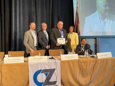Jack Stone receiving the award for the top American Opportunity Zone Project. (Photo: Business Wire)