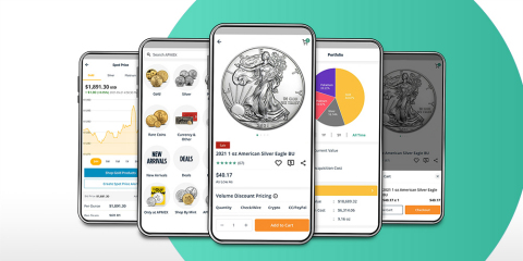 APMEX, one of the nation's largest online precious metals retailers, announces the launch of its shoppable mobile app. (Photo: Business Wire)