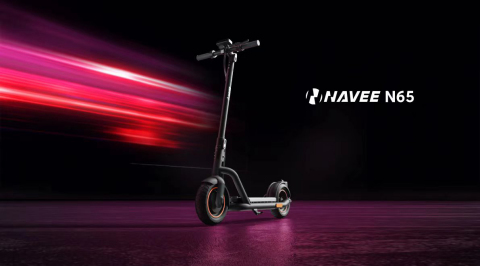 NAVEE N65 electric kick scooter launched by Brightway (Photo: Business Wire)