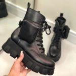 Bota Coturno Feminino Preto Cano curto com Bolso na Lateral Removível e Sola Tratorada Moda Outono Inverno Loja Online MM Store Shoes (1)