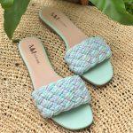 Rasteira Feminina Verde Menta com Detalhes em Tranças Calçados da Moda Nova Coleção Primavera Verão Loja Online Mm Store Shoes (30)