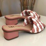 Tamanco Feminino Rose com Branco Salto bloco Baico Conforty Nova Coleção Verão Loja Online MM Store Shoes (20)