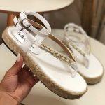 Papete Feminina Branca com detalhe em Corrente Nova Coleção Primavera Verão Loja Online MM Store Shoes (33)