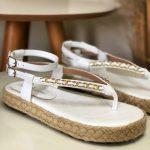 Papete Feminina Branca com detalhe em Corrente Nova Coleção Primavera Verão Loja Online MM Store Shoes (34)