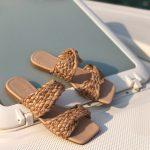 Rasteira Feminina com Detalhes em Palha Bico Quadrado Coleção Primavera Verão Moda e Tendência em Calçados Femininos Loja Online MM Store Shoes (20)