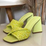 Tamanco Feminino Lemon De salto Estilo Triangulo e Detalhes de Palaha Coleção Primavera Verão Moda e Tendência em Calçados Femininos Loja Online MM Store Shoes (15)