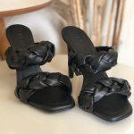 Tamanco Feminino Preto de Salto Alto Fino com Detalhes de Tranças Confort Coleção Verão Calçados Femininos com o Melhor preço Loja Online MM Store Shoes (2)