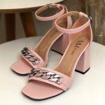 Sandália Feminina Rose de Salto Bloco e Detalhes em Correntes Nova Coleção Primavera Verão Loja Online Mm Store Shoes Moda e Tendência (2)