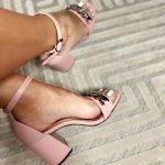 Sandália Feminina Rose de Salto Bloco e Detalhes em Correntes Nova Coleção Primavera Verão Loja Online Mm Store Shoes Moda e Tendência (5)