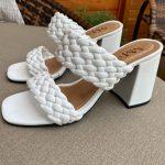 Tamanco Feminino Branco de Salto Bloco e Detalhes em Tranças Tendência da Moda Conforto e Estilo Loja Online MM Store Shoes (13)