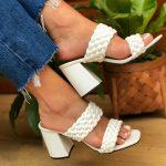 Tamanco Feminino Branco de Salto Bloco e Detalhes em Tranças Tendencia da Moda em Sapatos Femininos – Loja Online MM Store Shoes (a) (1)