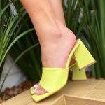 Tamanco Feminino Lemon de Salto Geométrico têndencia da Moda Nova Coleção Verão 2022 Loja Online MM Store Shoes (6)