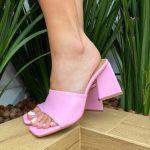 Tamanco Feminino Rosa de Salto Feométrico têndencia da Moda Nova Coleção Verão 2022 Loja Online MM Store Shoes (10)