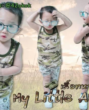 เสื้อกล้ามเด็กลาย(ทหาร) เท่ๆ ใส่สบาย ผ้านิ่ม เด็กใส่ไม่คัน