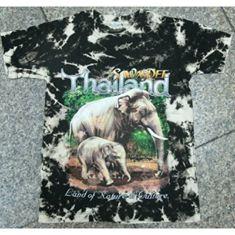 ลายช้าง เสื้อนักท่องเที่ยว เสื้อมัดกัดพิมพ์ลายช้าง (Dying Clothes)