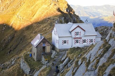 Das Berggasthaus Tierwis bald in der Morgensonne