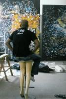 mbongeni in his studio