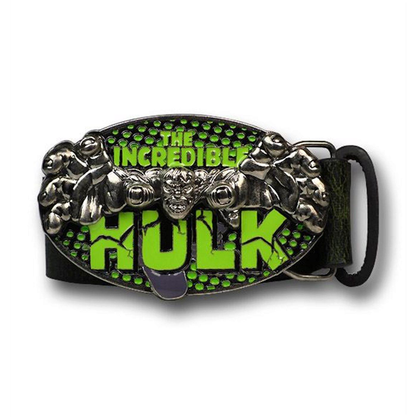 Hulk Lunging Belt Buckle With Belt