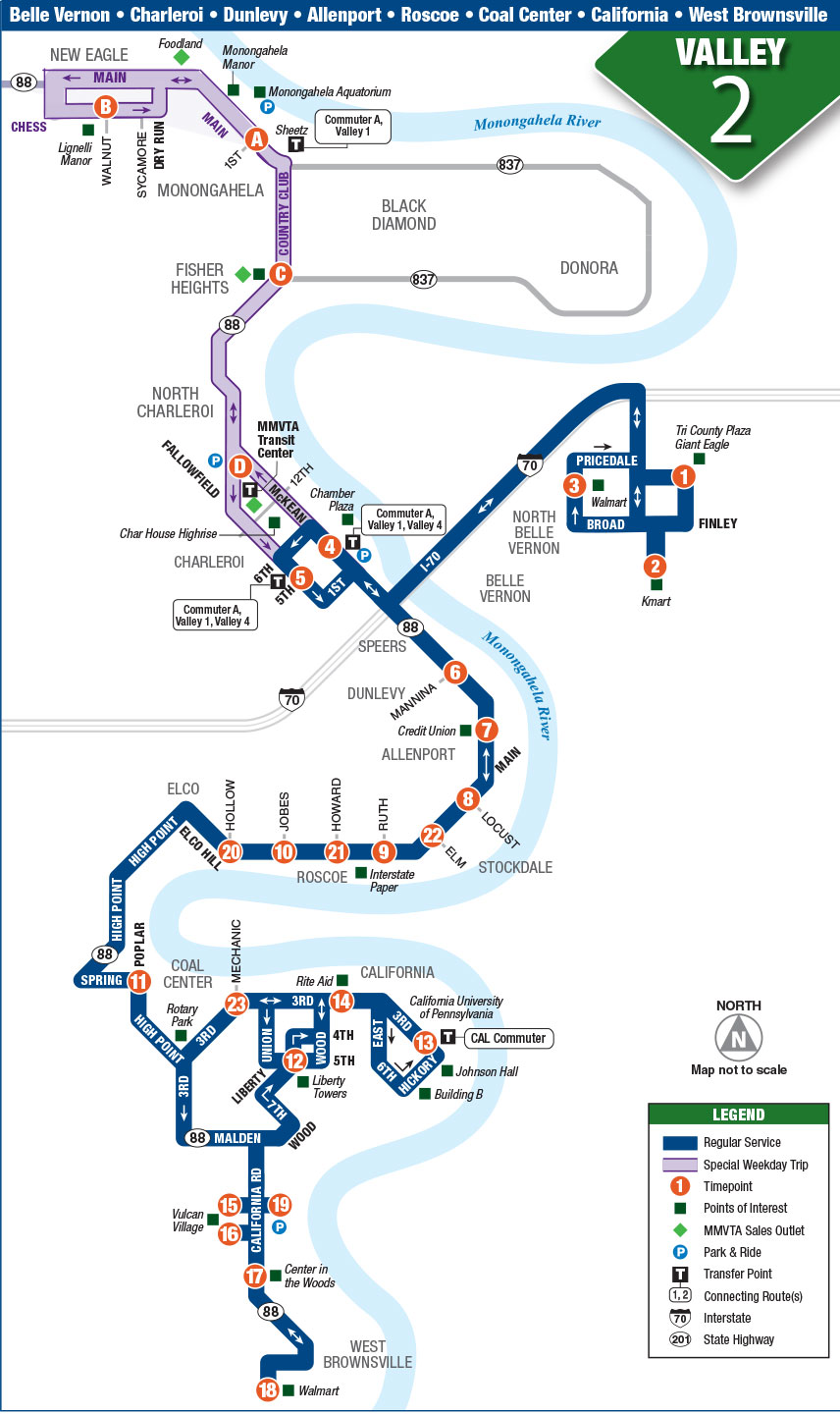Greyhound Express Route Map