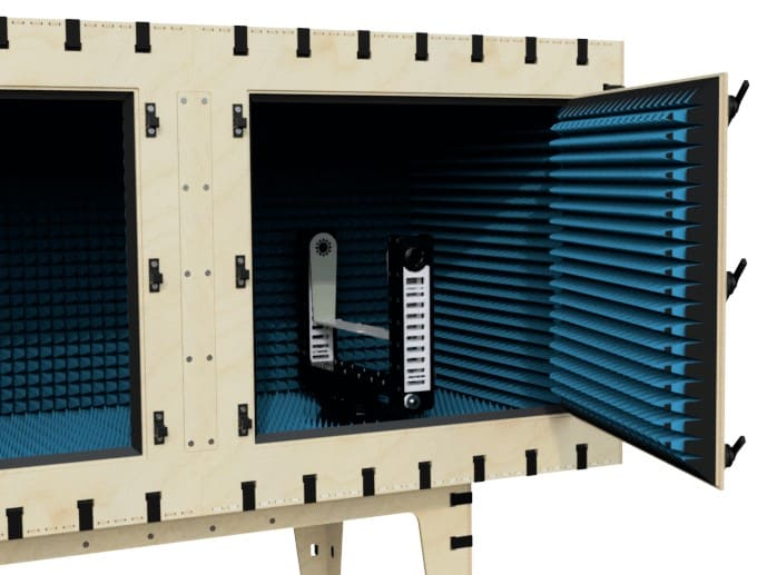 DUO5-500 3D positioner in the AC1120 test chamber