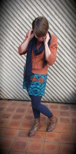 scarf: Witchery, jumper: trademe (dotti), dress:m modcloth, boots: Dr. marten