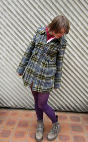 jacket: modcloth, tights: farmers?, boots: dr. martens