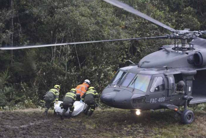 Colombian army helicopter