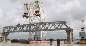 Padma Bridge construction site