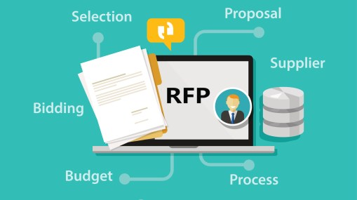 RFP request for proposal icon illustration vector bidding procurement process
