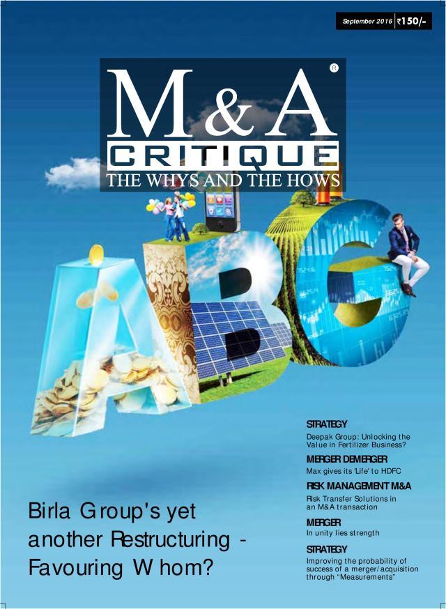 M&A Critique September 2016