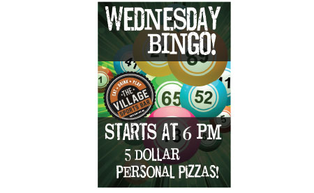 Wednesday Bar Bingo White Bear Lake - $5 Personal Pizzas